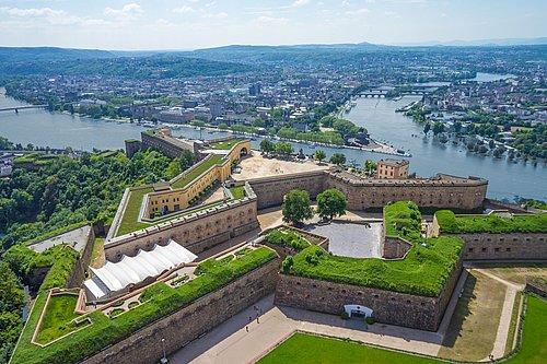 Festung Ehrenbreitstein, Romantischer Rhein