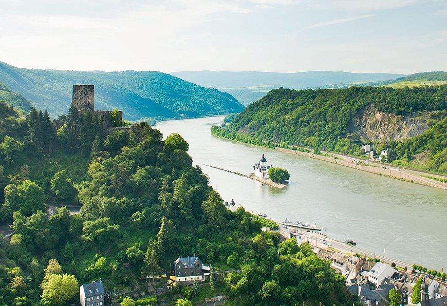 Ausbilck über das Mittelrheintal, Romantischer Rhein