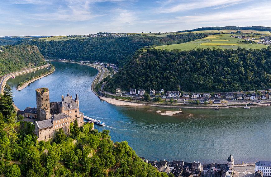 Burg Katz bei St. Goarshausen, Romantischer Rhein