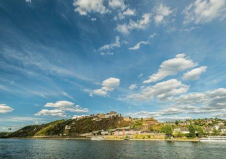 Blick auf die Festung Ehrenbreitsten, Koblenz
