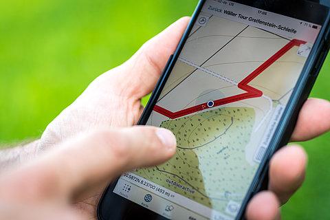 Tourennavigation mit der Rheinland-Pfalz erleben App