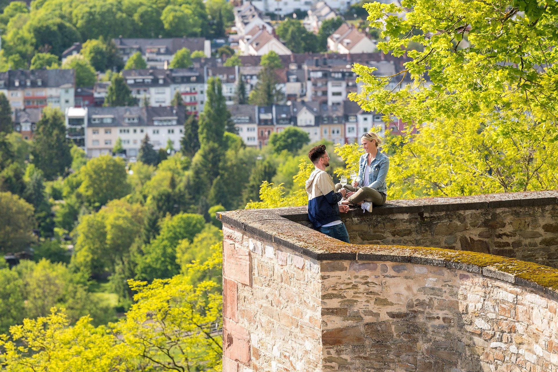 Ausblick von der Festung Ehrenbreitstein in Koblenz, Romantischer Rhein