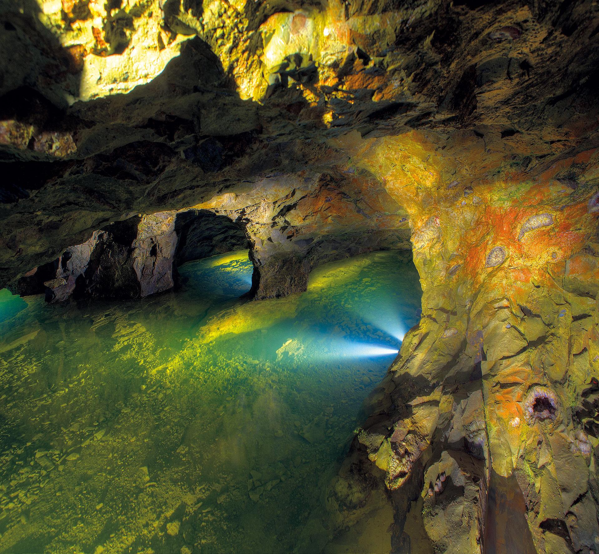 Einblick in eine Edelsteinmine bei Idar-Oberstein, EdelSteinLand