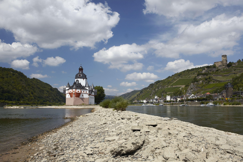 Die Burg Pfalzgrafenstein auf dem Felsenriff bei Kaub, Romantischer Rhein