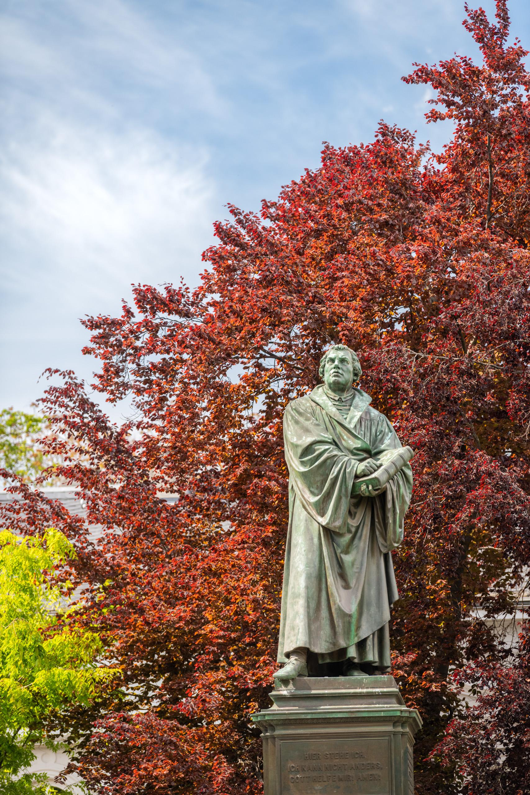 Das Lutherdenkmal in Worms, Rheinhessen