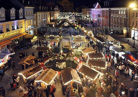 Weihnachtsmarkt von oben